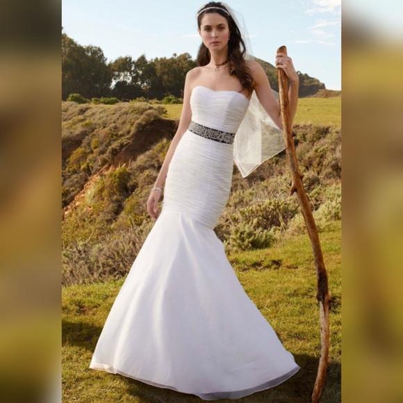 David\'s Bridal Dresses | Davids Bridal Organza Mermaid Wedding Dress ...